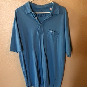 Tommy Bahama blue polo shirt